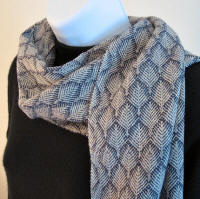 Merino wool scarf - Midnight Fern