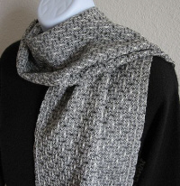 Merino Wool Scarf - Steel Gray