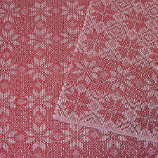 Napkin - Star Pattern - Red Hot