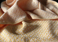 Golden Yellow Baby Blanket woven in Pattern 1